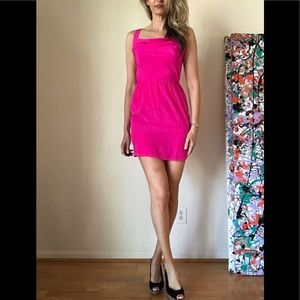 NWT Charlie Jade Hot Pink Silk Dress